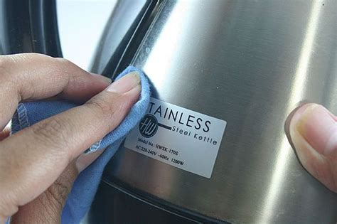 Remove Sticker From Stainless Steel