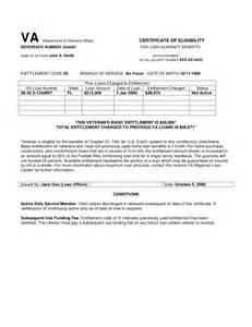 va home loan certificate of eligibility va letter of eligibility crna cover letter