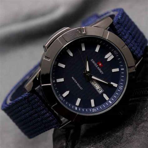 Jam Tangan Swiss Army Canvas Original jual jam tangan swiss army tali kanvas g 761 murah