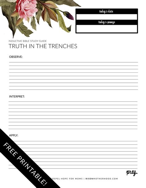 Bible Study Worksheets by Free Printable Inductive Bible Study Worksheets