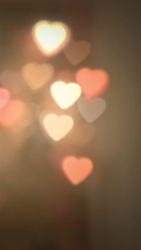 heart shaped lights iphone 5 wallpaper 640x1136