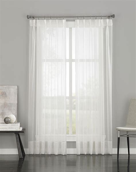 Sheer Pinch Pleat Curtains 95 Quot 19 99 Versatile Pinch Pleat Construction With Back Tabs Allow Panel To Be Hung Two