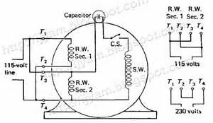 motor start capacitor wiring diagram part winding start motor wiring diagram wiring diagram