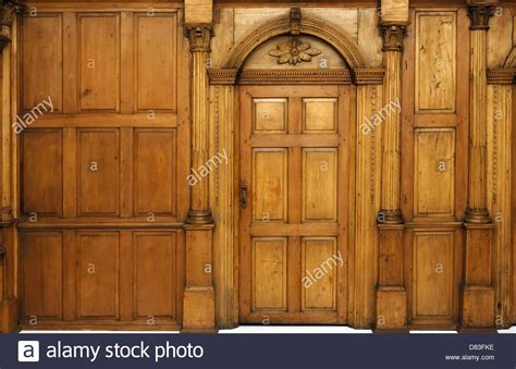 Architectural Interior Doors Wooden Paneled Wall And An Arched Door Architecture Style Stock Photo Royalty Free