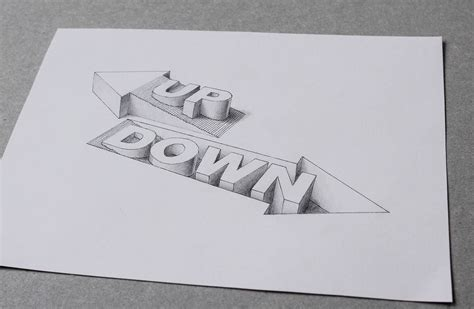 3d Drawing hand drawn 3d typography by lex wilson scene360