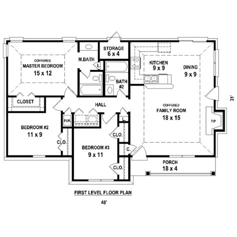 3 bedroom house plans no garage escortsea