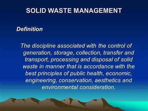 waste management ppt integrated solid waste management ppt