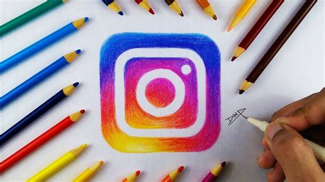 drawing tutorial instagram how to draw instagram logo step by step youtube