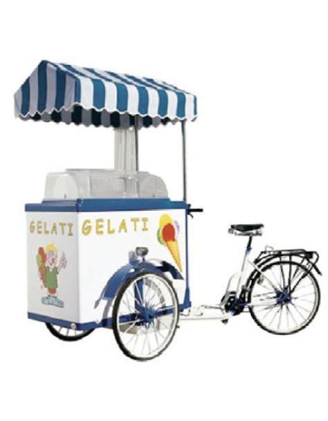 alimentazione bici carretto gelato sfuso con vetrina e bicicletta ad