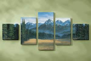 Hickory Dining Room Furniture Rocky Mountain Canvas Wall Art Set Of 5