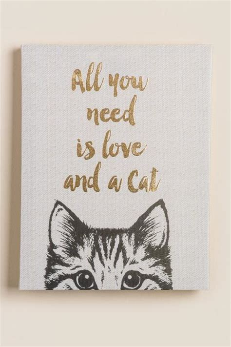 The Best Housewarming Gifts all you need is love and a cat canvas wall decor francesca s