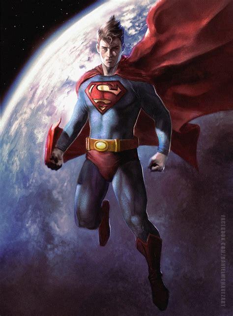 painting superman comics forever superman artwork by daniel chavez 2012