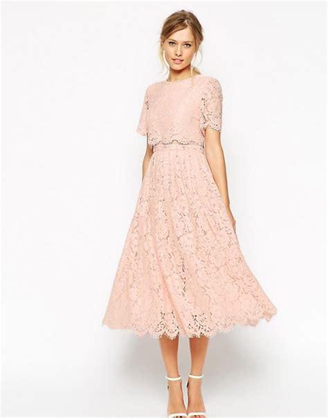 Lace Pink Crop Top Skirt Gaun Malam Dress Baju Pesta Import asos asos salon lace crop top midi prom dress