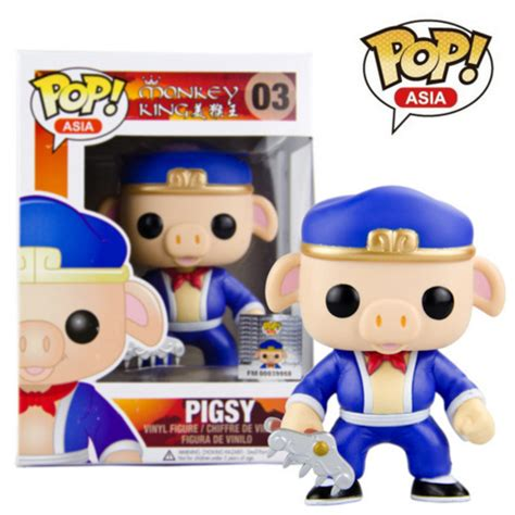 Funko Pop Set Promotion Asia Fighter 7 Items funko pop official asia journey to the west monkey king pigsy figure collectible vinyl figure