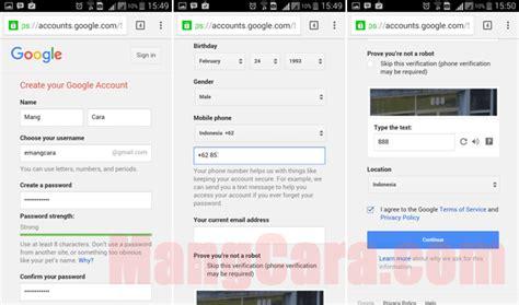 cara membuat gmail baru pada android cara membuat akun email gmail di hp android