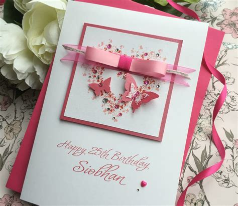 Handmade Card - gorgeous luxury butterfly birthday card handmade