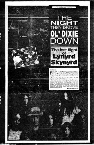 Lynyrd Skynyrd plane crash anniversary to be observed on