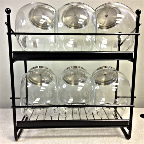Jar Rack by 6 Jar Rack Nostalgic Countertop Display