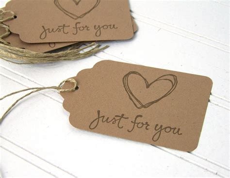 How To Make Paper Tags - gift tags rustic gift labels just for you tag by