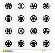 Car Rims Stock Vector Image Of Steel Icon Isolated