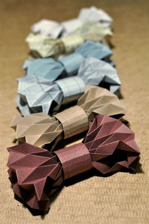 How To Make A Bow Tie From Paper - diy origami bow ties