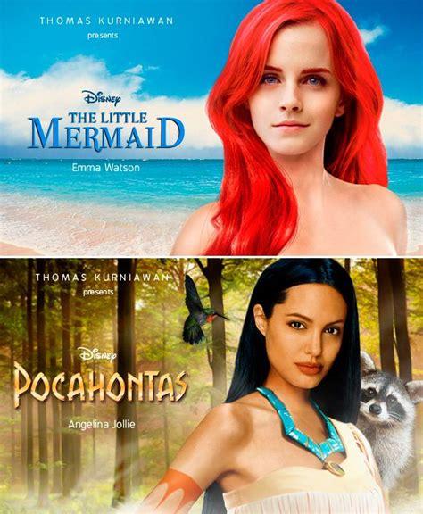 la petite sirene film emma watson your favorite celebs as disney princesses emma watson as