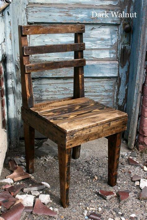 how to make a wooden chair diy rustic wooden pallet chairs 101 pallets