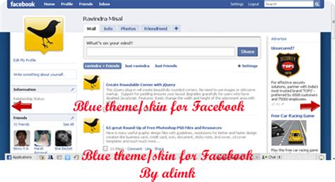 add themes to facebook born to hack trick to install change themes on