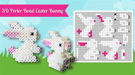 how to make perler how to make a perler bead 3d easter bunny