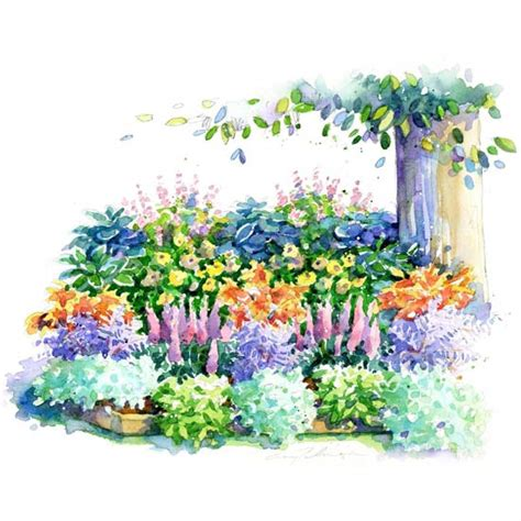 how to plan a flower garden layout no fuss shade garden plan