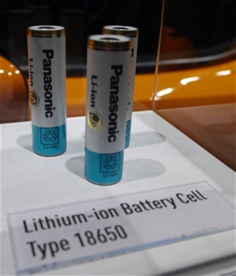 tesla 18650 cells panasonic s battery division back to profitability thanks