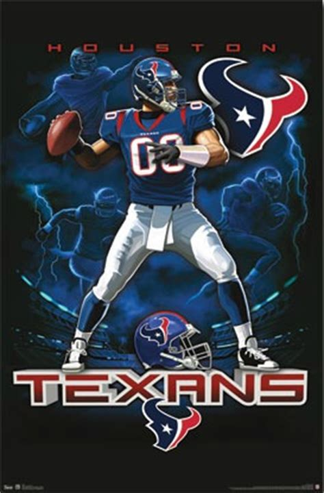 houston texans nfl football team logo mascot pictures posters