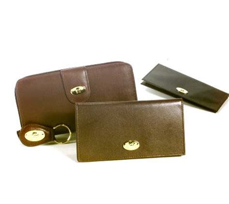 Aigner Cynthia 001 Leather etienne aigner leather wallet checkbook and key fob set qvc