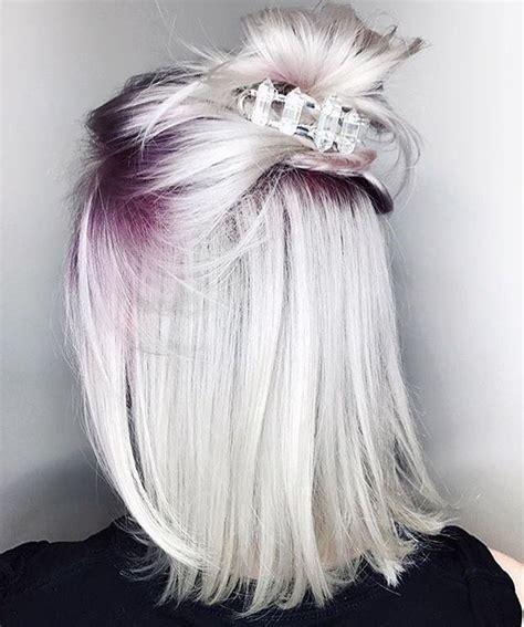 silver blonde root shadow hair ideas pinterest 25 best ideas about short dyed hair on pinterest short