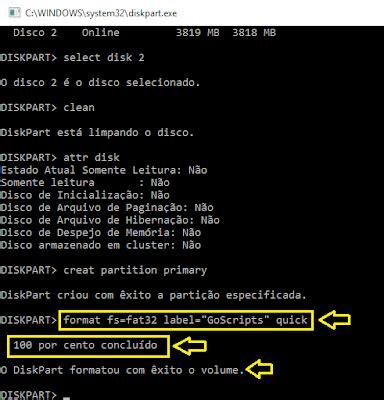 diskpart format ntfs rapido diskpart desbloquear pendrive hd e remover bitlocker
