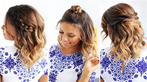 quick easy hairstyles for short medium hair cute summer hairstyles for short hair hairstyles