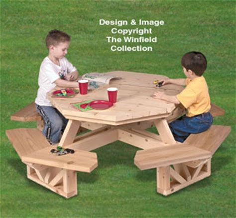yard furniture  kids octagon picnic table