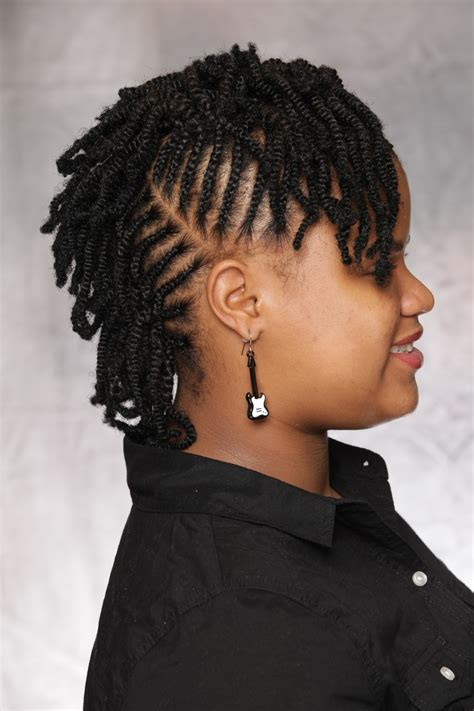 hair extension mohawk combination style cornrows nubian twist 5