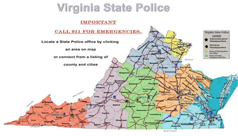 us map state of virginia virginia state office locations