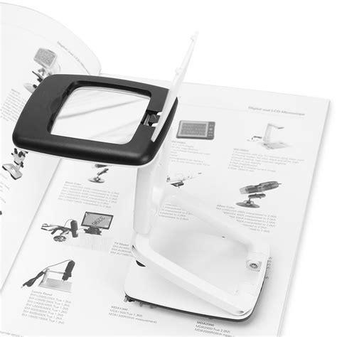 Kaca Pembesar Loup Magnifier 6 Led kaca pembesar meja magnifier 3x dengan lu led black