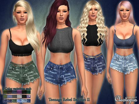 sims 3 teen beach movie outfits cleotopia s set29 teenage rebel casual set part ii