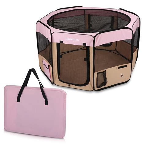 portable puppy playpen l portable puppy pet cat playpen crate cage kennel enclosure tent play pen ebay