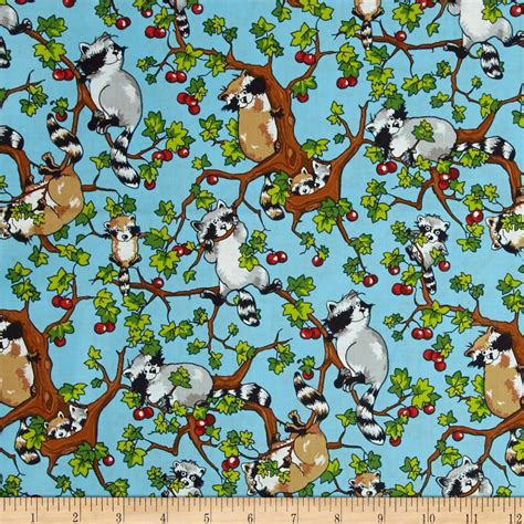 Fabric Krazy Quilt Shop by Krazy Kritters Raccoon Discount Designer Fabric Fabric