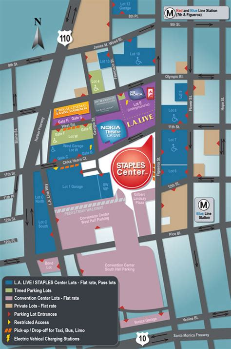 staples center map parking lot map staples center