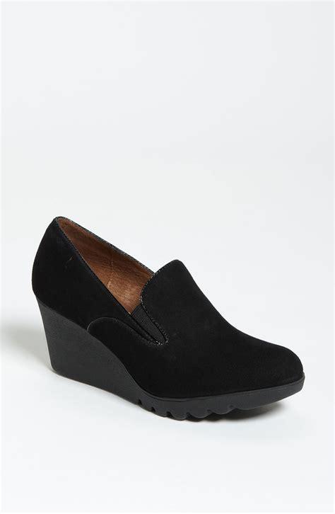 loafer wedges donald j pliner melia wedge loafer in black lyst
