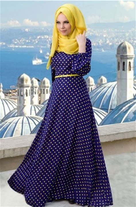 Dress Polka Dress By Hijabinc blue with polka dots and bright yellow t tried that yet tiffy s world