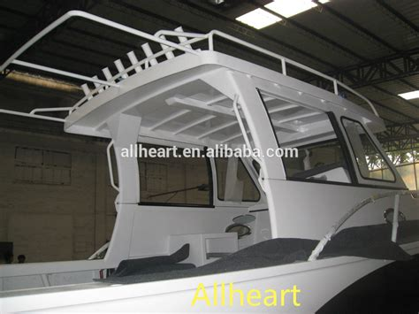 enclosed cabin boats 23ft all welded aluminum enclosed cabin fishing boat buy