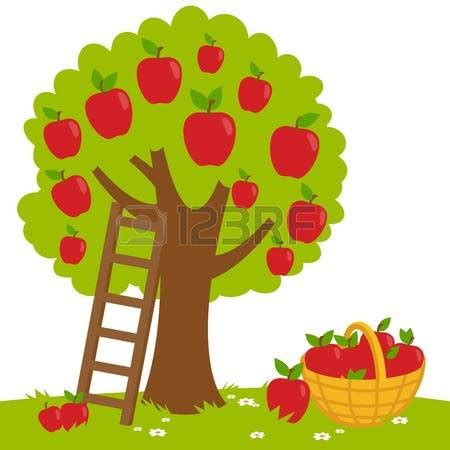 apple tree clipart free clipart picture of six apples on a tree clipground