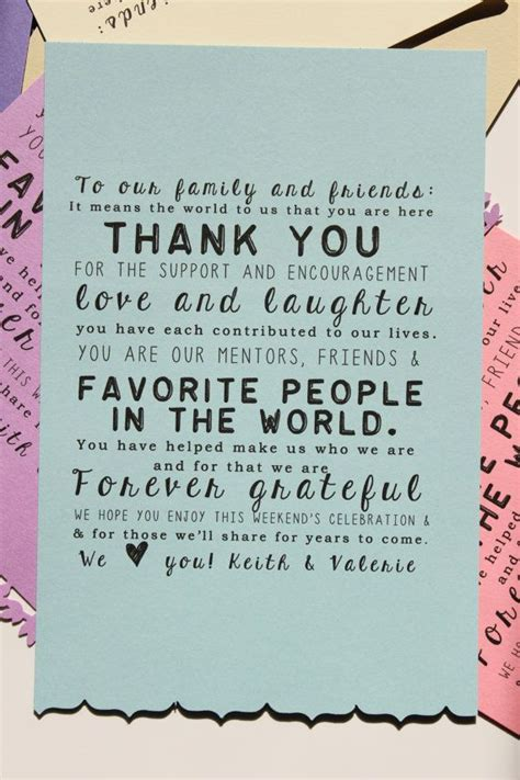 Thank You Card For Attending Destination Wedding