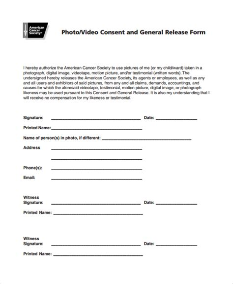 generic consent form template consent form driverlayer search engine